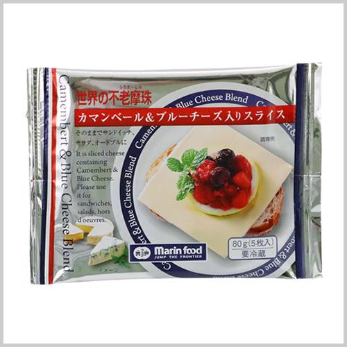 世界の不老摩珠(ふろま~じゅ) カマンベール&ブルーチーズ入りスライス 80g