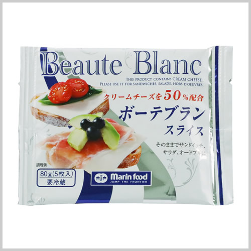 Beaute Blanc Sliced Cheese 80g