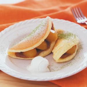 和風モンブラン豆乳ホイップのホットケーキ