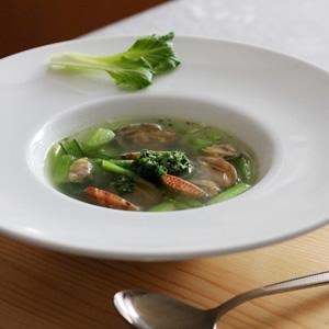 小松菜とあさりのスープ