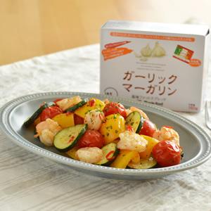 夏野菜とえびのペペロンチーノソテー