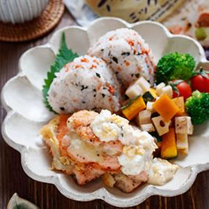 サーモンのチーズタルタルdeワンプレートご飯