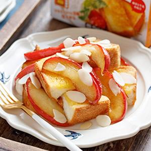 キャラメルアップルバターのフレンチトースト
