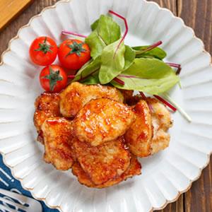 鶏むね肉のハニーバター醤油焼き