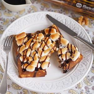 チョコレートスモアワッフル