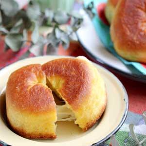 チーズのび~る♪揚げ焼きチーズドーナツ