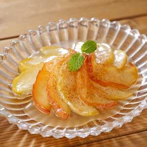 りんごのはちみつバターソテー