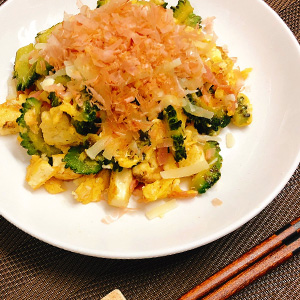 豆腐とゴーヤの洋風チャンプル