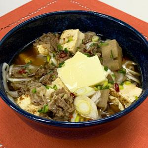 チーズ肉豆腐