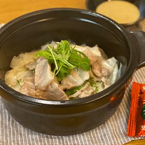 大根と水菜の豚しゃぶチーズ蒸し鍋