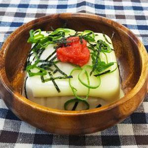 豆腐めんたいチーズ