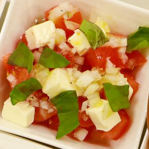 トマトとバジルのコロコロサラダ